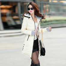 Hot Sales 2017 Fashion Slim New Winter Down Jacket Coat Cotton Down Jacket Sections Ladies Padded Jacket  Top Quality Low Price