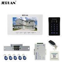 JERUAN 7 LCD Video Intercom Video Door Phone System Brand New RFID Access Waterproof Touch Key