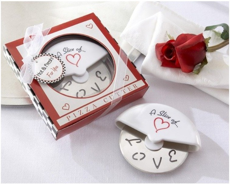 Free shipping Pizza Cutter Wedding Favors Bulk Sale Your DIY Baby Party Inspiration, Party Gifts Dinnerware Sets100sets