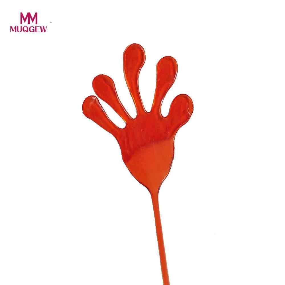 5 sztuk dzieci lepkie ręce Palm Party Favor zabawki nowości nagrody urodziny zabawki prezentowe dla dzieci szlamowe zabawki antystresowe zdeformowane zabawki