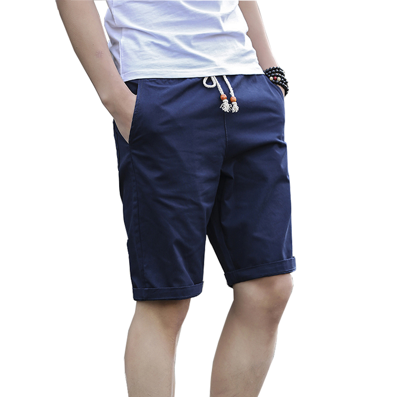NaranjaSabor 2020 Summer New Men's Casual Shorts Men Slim Beach Shorts Jogger Trousers Male Knee Length Short Pant 5XL 7Colors