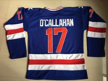 1980 USA Hockey Jerseys 17 Jack O'Callahan Stitched Embroidered Logo Ice Hoceky Jersey S-3XL Free Shipping Viva Villa(China)