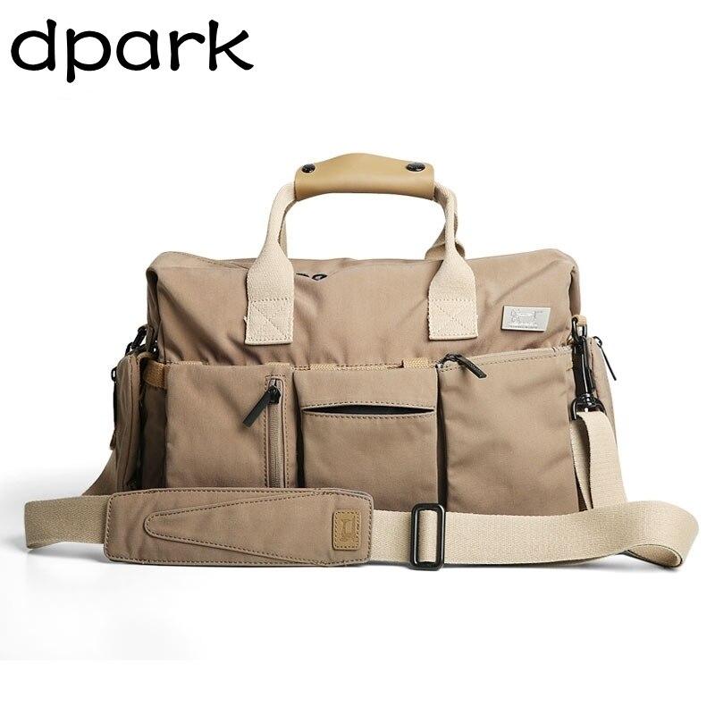 D-park Men's Bags Hand Shoulder Bag Large Capacity Travel Bag Crazy Horse Leather Business Hand Bags Classical Design