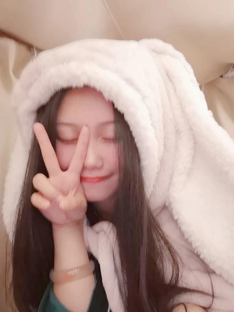 Cute Pink Comfy Blanket Sweatshirt Winter Warm Adults and Children Rabbit Ear Hooded Fleece Blanket Sleepwear Huge Bed Blankets 92