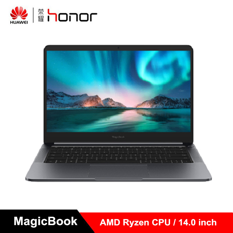 Original Huawei Honor MagicBook 2019 14 Inch Laptop Windows 10 AMD Ryzen 5 3500U 8GB 256GB PCIe NVMe SSD Radeon Vega 8 PC
