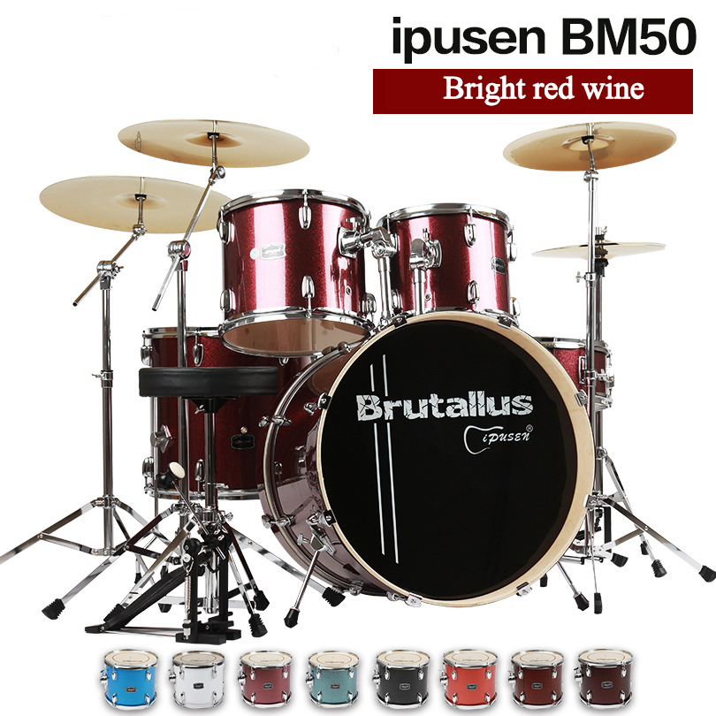 Ipusen multiple colour 400mm adult children Drum Five Drum four Cymbals beginners introduction practice professional performance chang 10 inch drum cymbal ab stage splash cymbals