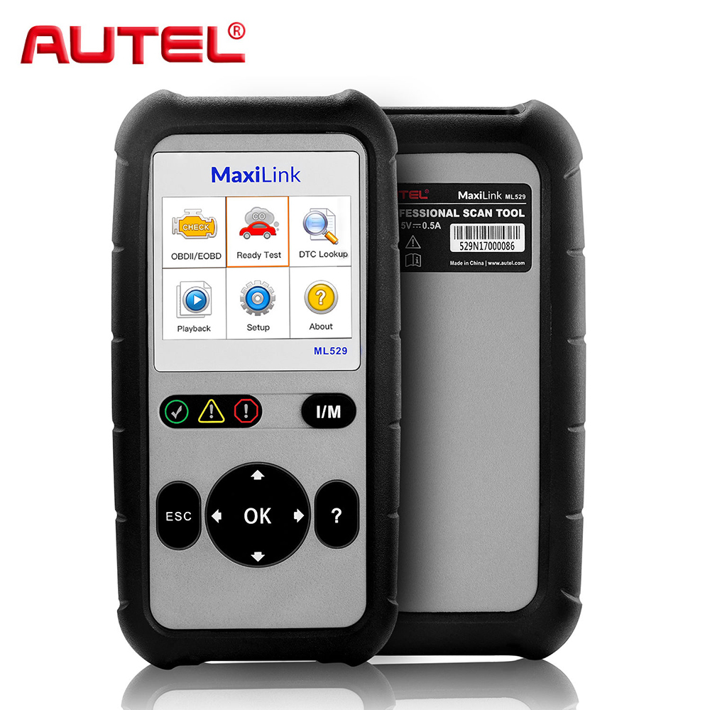 Autel Maxilink ML529 (AL529) OBDII Diagnostic Code Reader Car Fault Scanner Tool Autel ML529 OBD2 EOBD Diagnostic-Tool hot sale top quality white lp custom guitar with golden hardware electric guitar free shipping white color