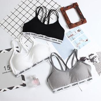 Woman sport bra push up breathable strippy back yoga bras fitness bra wireless freedom underwear  pack of 3