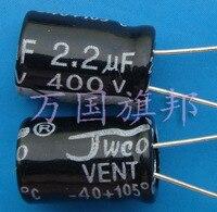 ¡Entrega Gratuita! Condensador electrolítico 2 2 uF 400 v 2 2 uF capacitor clamp capacitor size capacitor super -