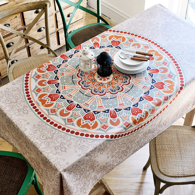 Europe Style Ethnic Cloth Art Tablecloths Exquisite Printing Fluid Systems  Table Cloth Western Restaurant/Coffee