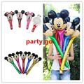 20pcs/lot Masha Mickey /Minnie Mickey Mouse / bear head foil balloon cheering stick ballon kids birthday decoration baby toys