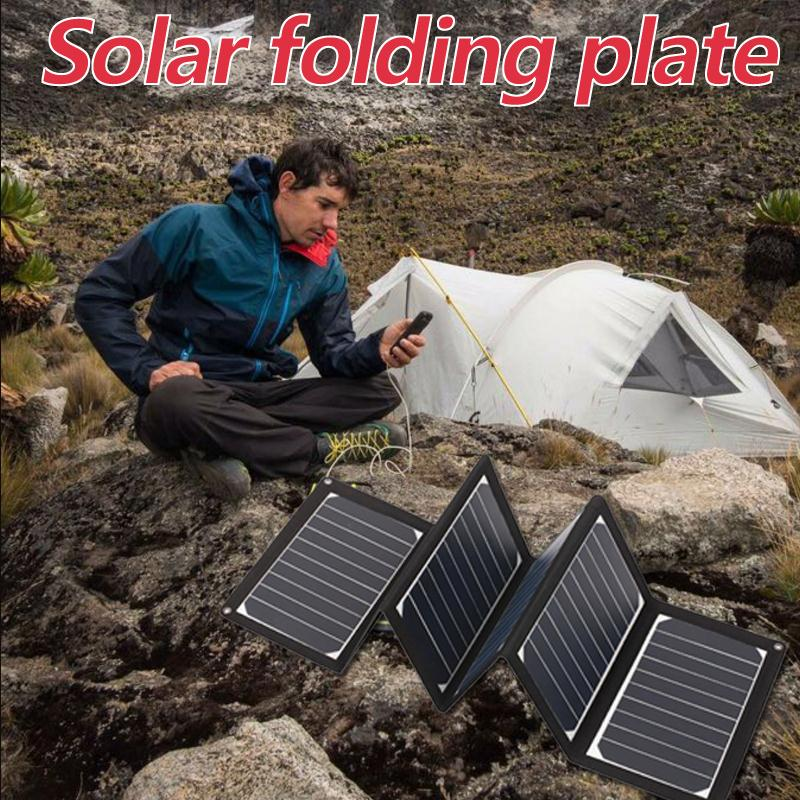 MVpower 5V Folding Monocrystalline Solar Panel Power Battery Charger USB Outdoor Camping Travelling Powerbank Supply Module Cell 50w 12v semi flexible monocrystalline silicon solar panel solar battery power generater for battery rv car boat aircraft tourism