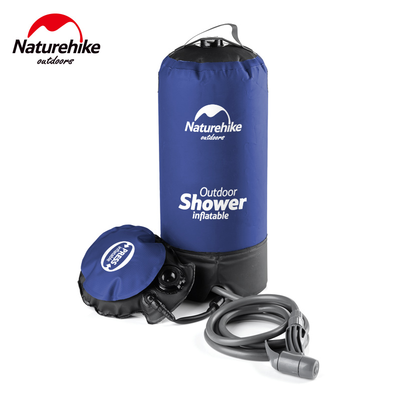 Naturehike Outdoor Inflatable Shower Pressure Water Jet Shower Bag Potable Water Bag for Outdoor Bathing,Car Washing NH17L101-D funny summer inflatable water games inflatable bounce water slide with stairs and blowers