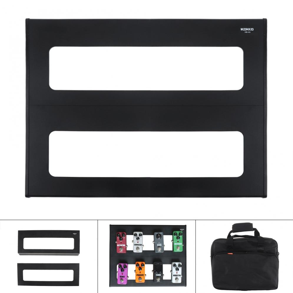 KOKKO 37 x 30cm Detachable Aluminum Alloy Guitar Pedal Board Setup Style DIY Guitar Effect Pedalboard with Bag-in Guitar Parts & Accessories from Sports & Entertainment    1