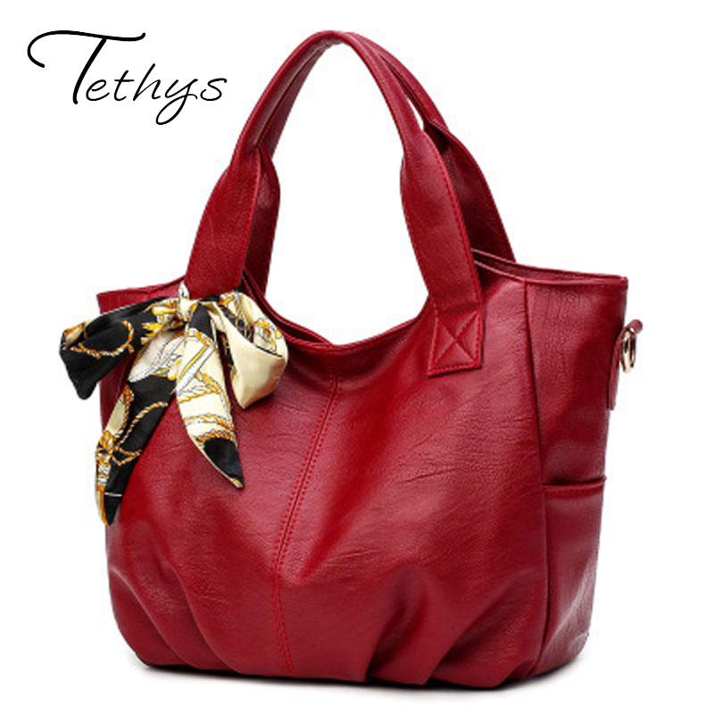 Tethys New Leather Female Bag Ladies Designer Handbag High Quality Crossbody Bag For Women Hobos Tote