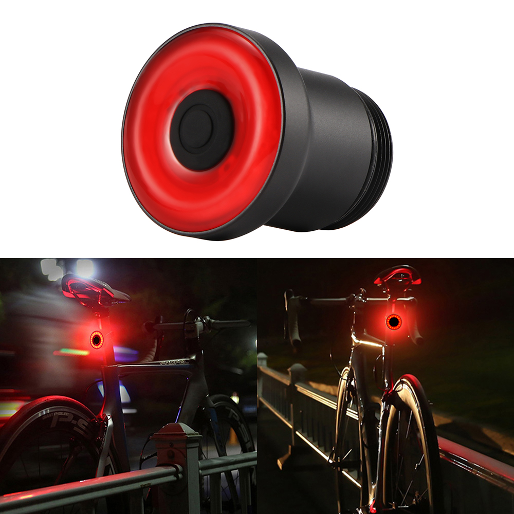 Intelligent Bicycle Bike MTB COB+LED+EnSca Taillight G-Sentor Warning Rear Lamp