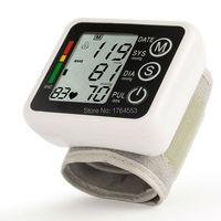 טיפול ביתי נייד מלא האוטומטי דיגיטלי זרוע לחץ דם צג פעימות לב מד עם תצוגת lcd קרוב אוטומטי