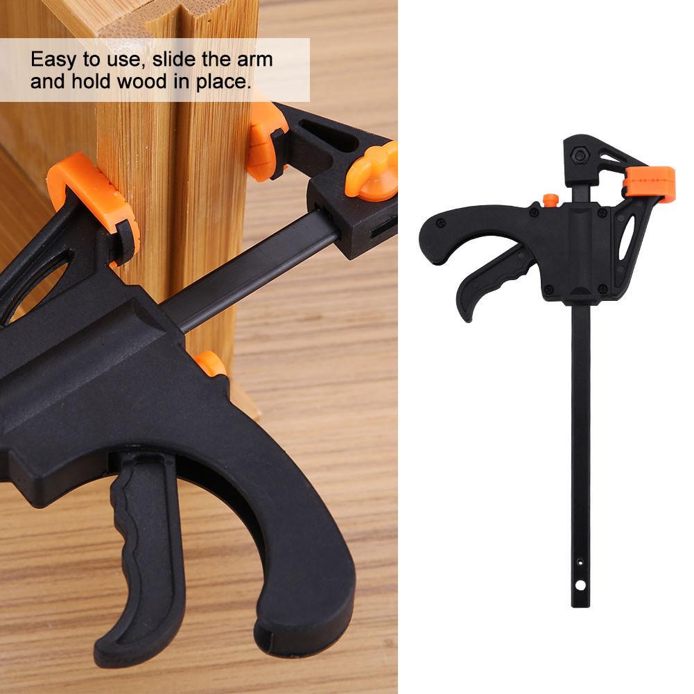 6 Inch Wood Working Bar F Shape Clamp Grip Ratchet Release Squeeze DIY Hand Tool ALI88 цены онлайн