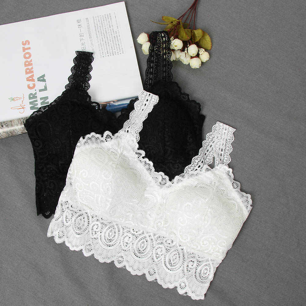 a8cc434904 2019 Fashion Women Bralette Bra Female Lace Tops Hot Sale Female Lace Strap  Wrapped Chest Shirt