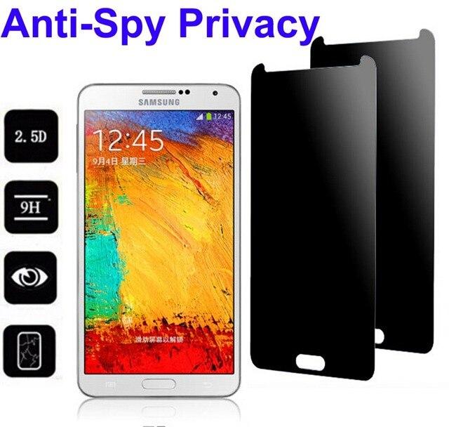 100 Adet/grup Anti-Casus Gizlilik Koruyucusu için Gerçek Temperli Cam Ekran Koruyucu Kalkanı Samsung S8 Artı S7 S6 S5 Not 4 5 Ücretsiz DHL