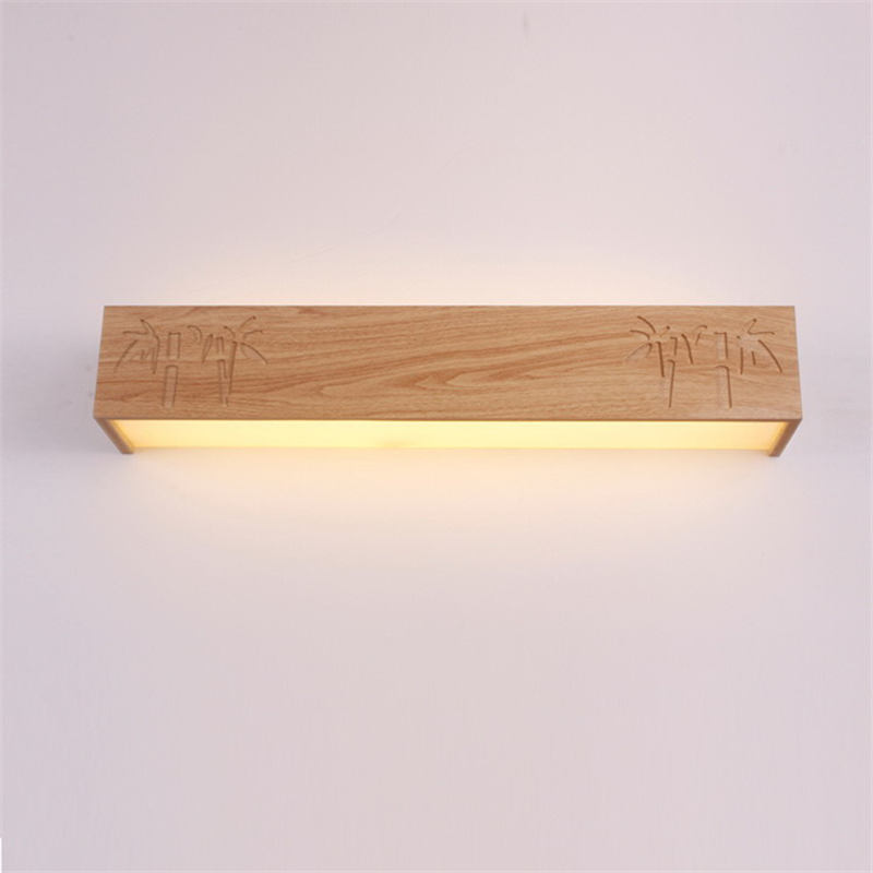 Vioslite LED Wall Lamp Mirror Modern Minimalist Creative Wood Plastic Wood Chinese Light Aisle Bedroom Bathroom Living Room only minimalist modern creative bedside lamp led wall lamp mirror front lamp aisle lighting fixtures wall lights led