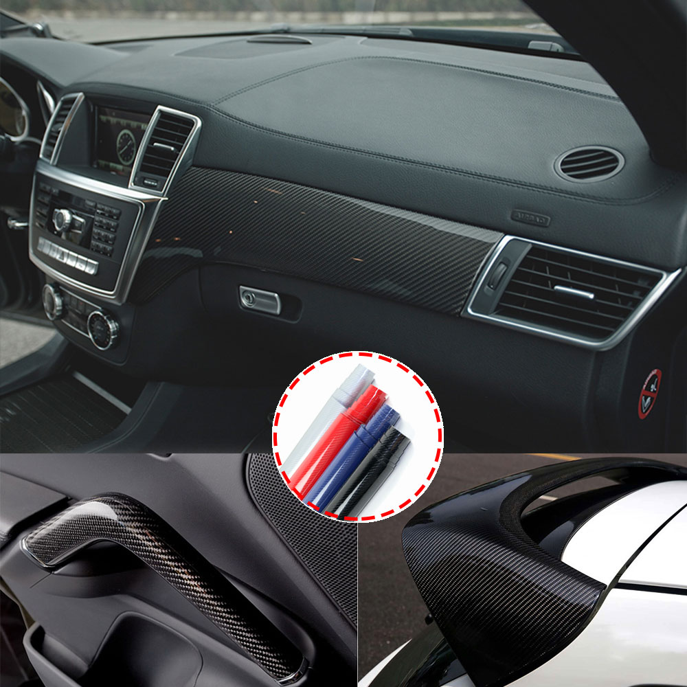 Car-Styling 5D Carbon Fiber Vinyl Film High Glossy Warp Also Fit For Motorcycle Laptop Cellphone Etc