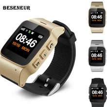 Beseneur D99+ GPS+WIFI+LBS SOS Smart Watch Elderly kids Long Standby Phone Anti-lost Tracking Smartwatch for IOS Android phones(China)