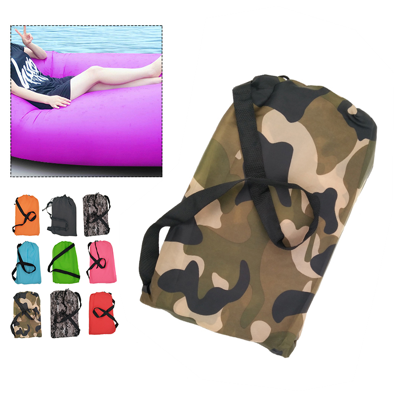 Inflatable Folding Sleeping Lazy Bag Waterproof Portable Air Sofa Pocket Outdoor Beach Camping Lengthened Sleeping Lazy Bed norent brand waterproof inflatable mattress camping beach picnic air sofa outdoor swimming pool lazy bed folding portable chair