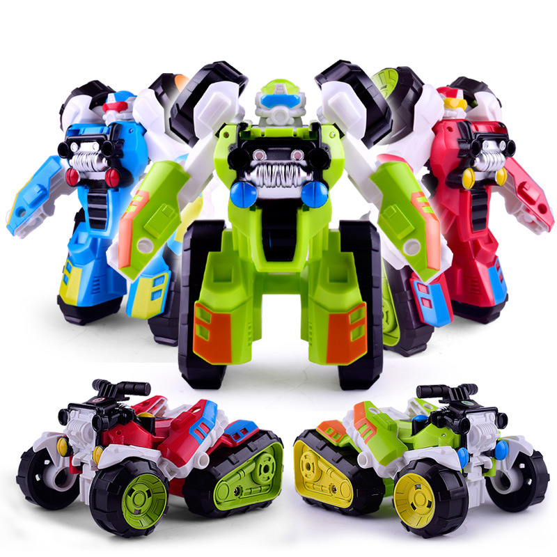 Creative Anime Beach Car <font><b>Transformation</b></font> Robot Series <font><b>Toys</b></font> Action Figure <font><b>Toy</b></font> 1 in <font><b>2</b></font> Robot Car DIY Model <font><b>Toy</b></font> for Baby Child Gifts image