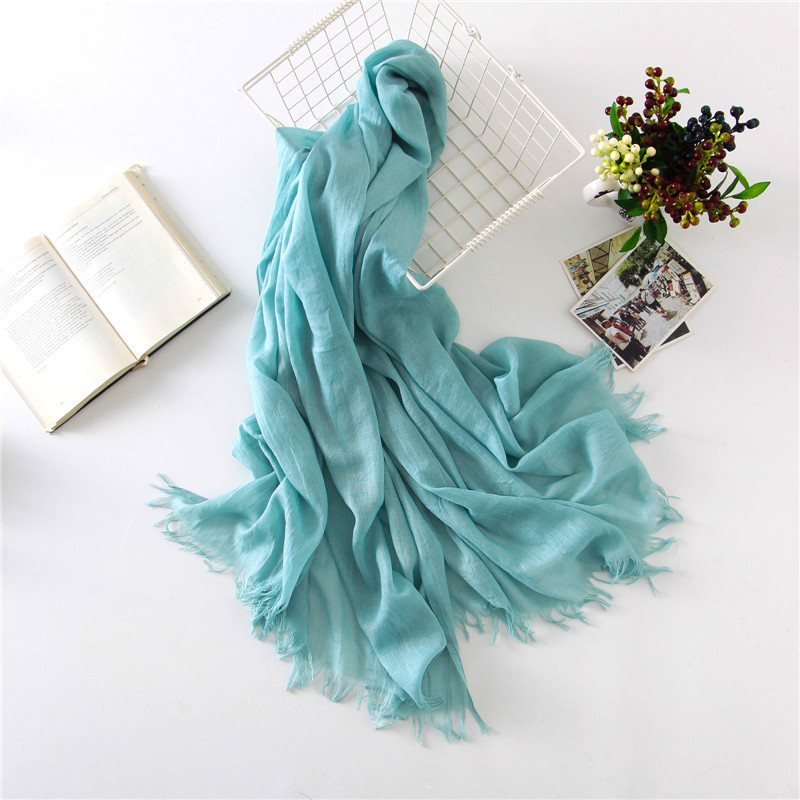 Women Scarf Solid Color Large Shawl Blanket Hijab Classical Pashmina Soft NEW [3267]