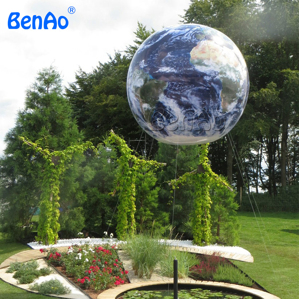 AO359 BENAO large inflatable earth shape inflatable globe helium balloon/Giant Advertising Earth Helium Balloon for sale ao058b 2m white pvc helium balioon inflatable sphere sky balloon for sale attractive inflatable funny helium printing air ball