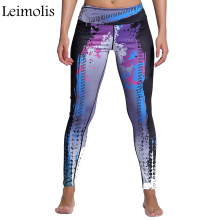Leimolis 3D print Star Move winter warm Harajuku High Waist workout push up plus size fitness leggings women pants