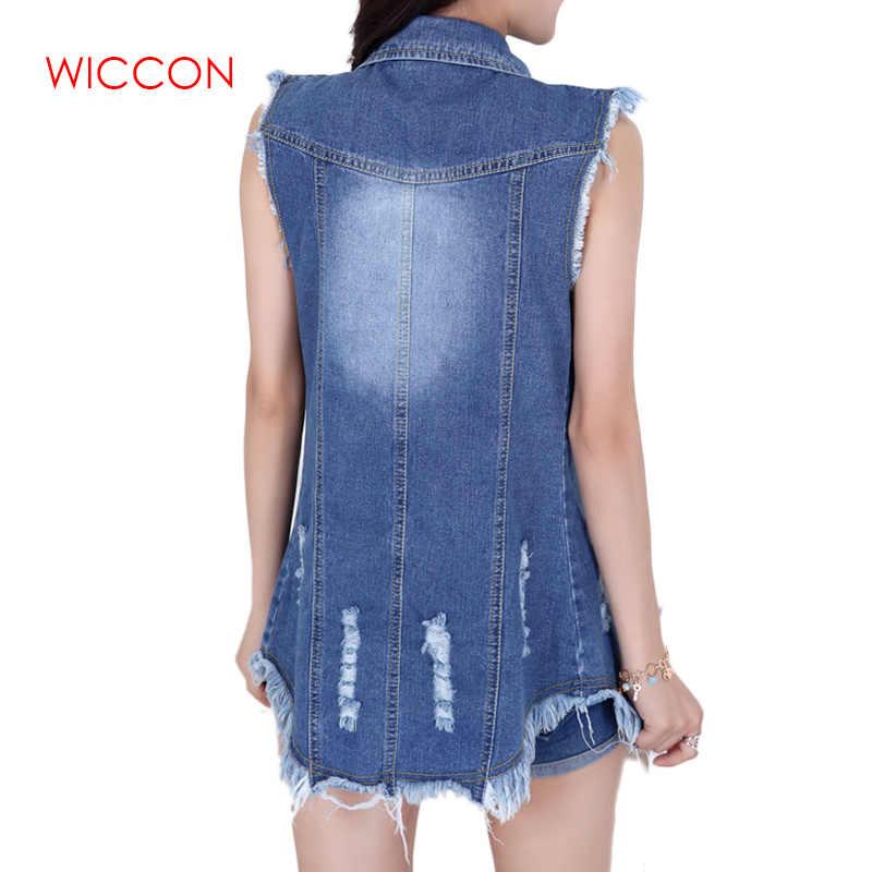 Verão 2020 nova versão coreana das mulheres de tamanho grande cowboy jaqueta moda borla senhoras denim sem mangas colete jaquetas