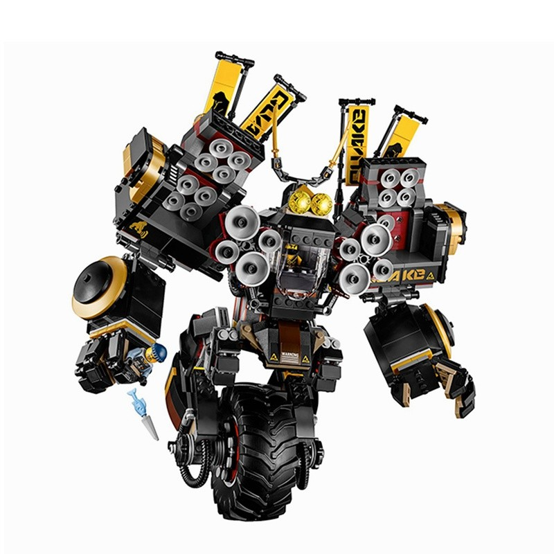 Lepin Ninjagoes 06069 Cole's Quake Mech 1346Pcs A Gang's Unicycle Building Blocks Toys for Children Comapatible Legoing 70632 lepine 06069 1346 pcs ninjagoe quake mech set jay kai a gang s model building blocks toys for children compatible legoe 70632