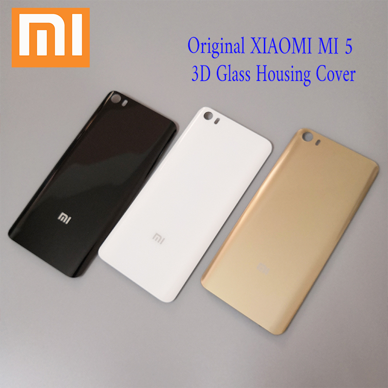 brand new 5c9da 07f08 100%Original New XIAOMI Mi5 Mi 5 Back Cover Battery Case 3D Glass Housing  Cover, Back Door Rear Cover Replacement For Xiaomi Mi5-in Mobile Phone ...