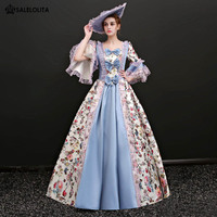 f0468c07a57b Marie Antoinette Baroque Colonial Waltz Masquerade Dress 17th Century Gown  Reenactment Theatre Costume
