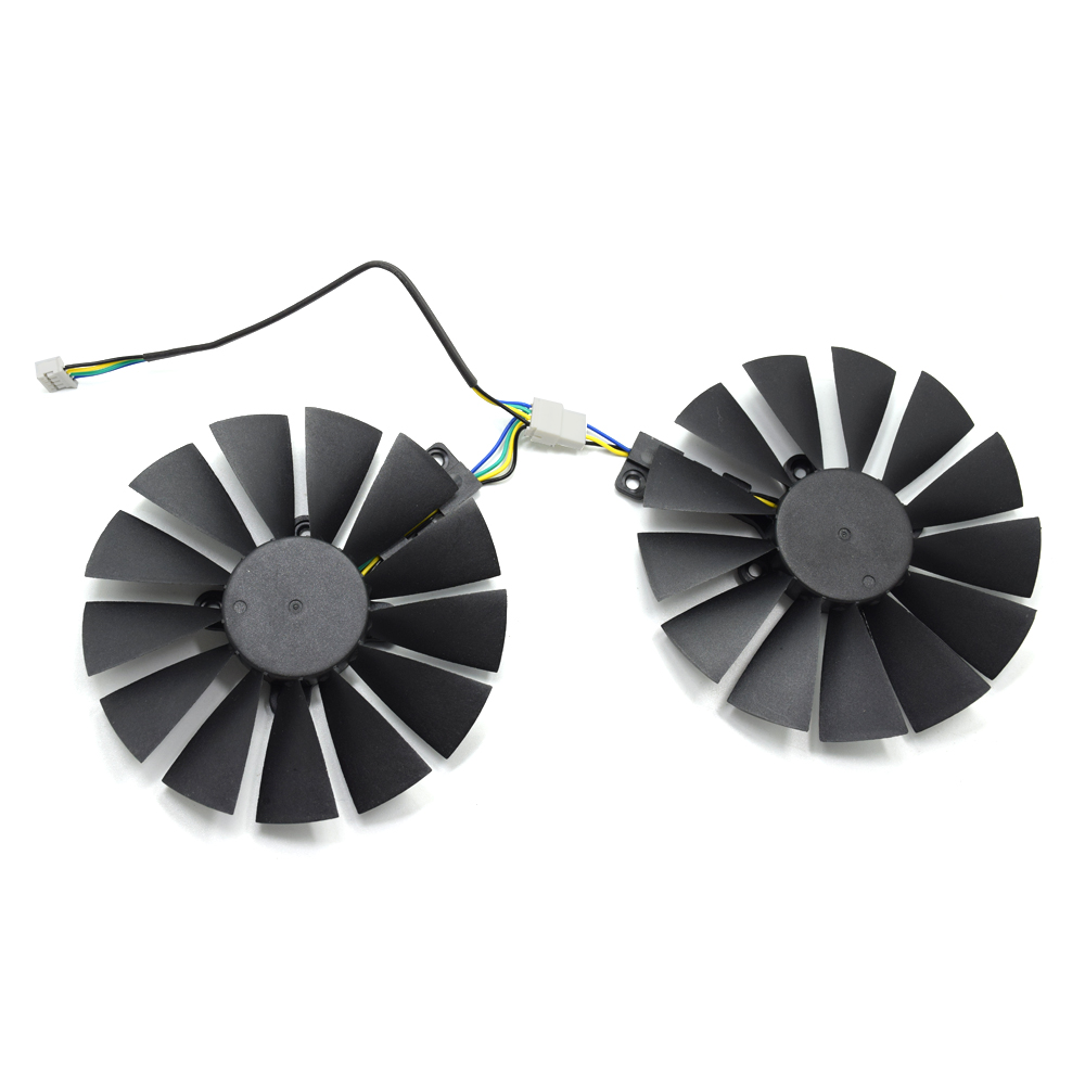 95MM T129215BM DC 12V 0.25AMP Cooler Fan Replacement For ASUS STRIX RX570 <font><b>4G</b></font> GAMING <font><b>RX</b></font> <font><b>470</b></font> T129215SM Graphics Video Card Cooling image