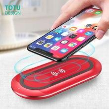 TOTU 10W sem fio carregador rápido de carga indicador de carga do flash do telefone móvel sem fio do carregador de carregamento sem fio para o iphone X 8