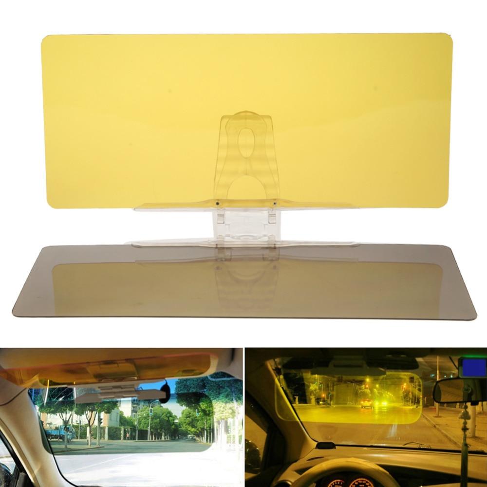 2 in 1 Car Sun Visor HD Anti Glare Dazzling Goggle UV Day Night Driving Mirror