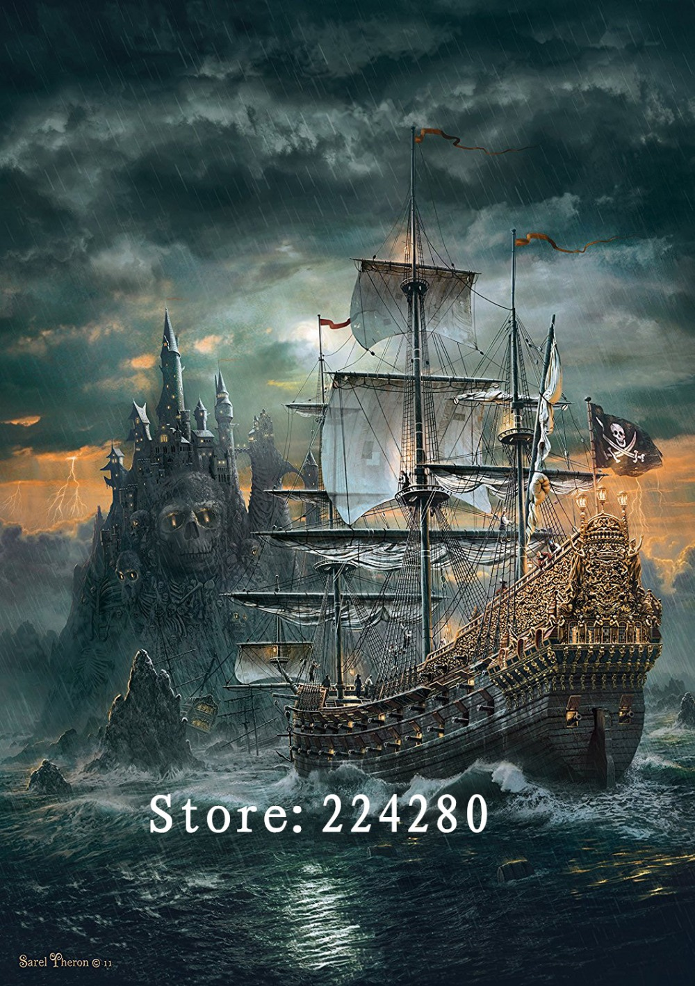 Needlework Sea sailing scenery 14CT Counted For Embroidery High Quality DIY DMC Cross stitch kits Art