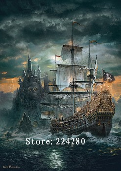 Needlework,Sea sailing scenery 14CT Counted For Embroidery,High Quality DIY Cross stitch kits,Art Cross-Stitching Home Decor