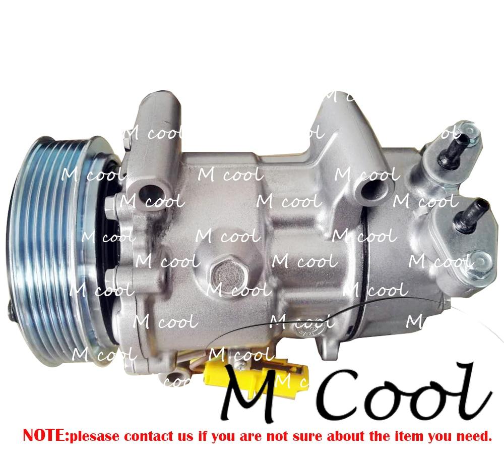 Высокое качество AC компрессор для автомобиль PEUGEOT 206 307 для CITREON C3 1998-2009 9646273880 6453LH 6453GZ 9646273380 6453LN
