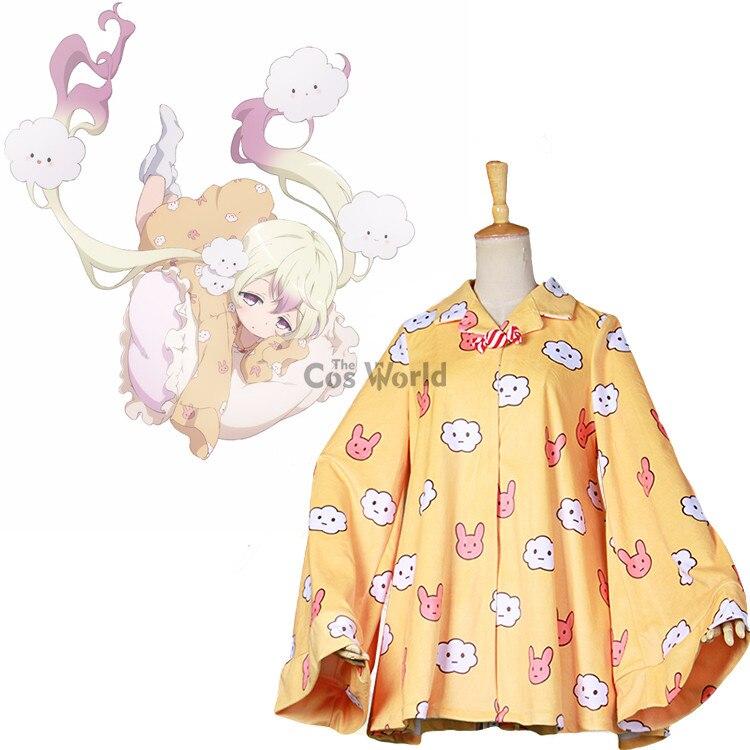 Magical Girl Raising Project Sanjou Nemu Nemurin Pajamas Sleepwear Nightdress Nightgown Outfit Anime Cosplay Costumes