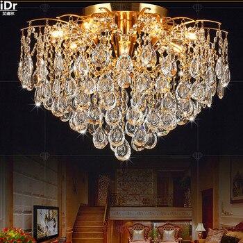 Kristall lampe wohnzimmer modernen minimalistischen schlafzimmer lampe  kreative restaurant beleuchtung lampen gold Deckenleuchten Lmy-0240