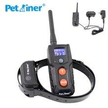 300 м дистанционный ошейник для обучения собак PET916 перезаряжаемый водонепроницаемый ошейник для собак Электронный ударный тренировочный ошейник Синий ЖК-дисплей