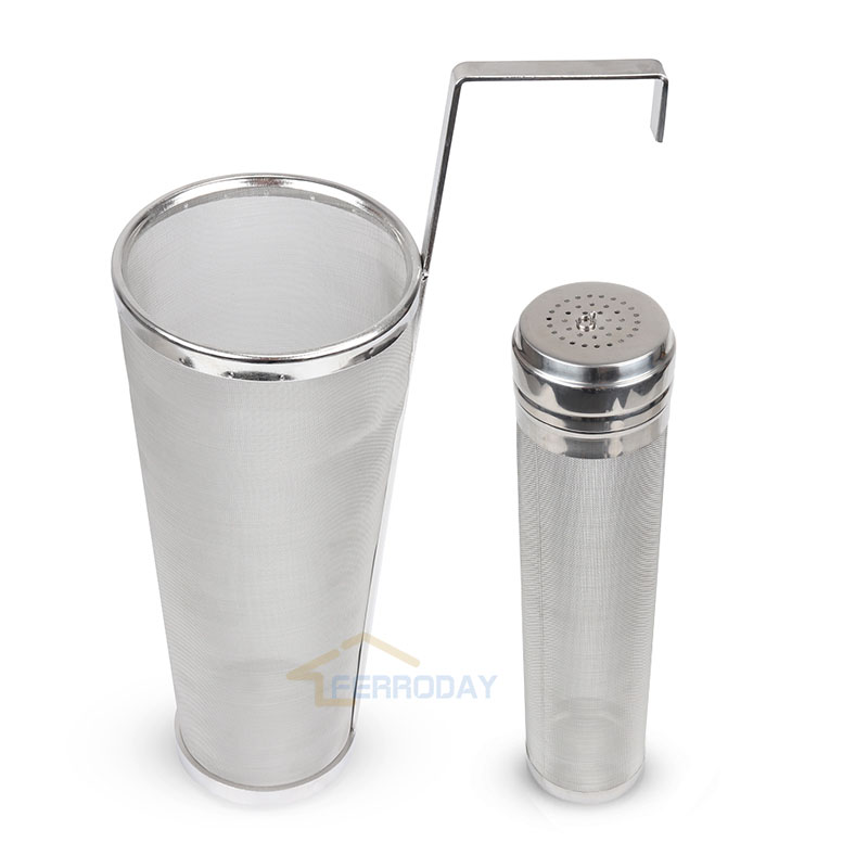 300 Micron Stainless Wine Beer Hopper Filter Keg Dry Hoping Home Hopper Spider Strainer Home Brew Hop Mesh Filter