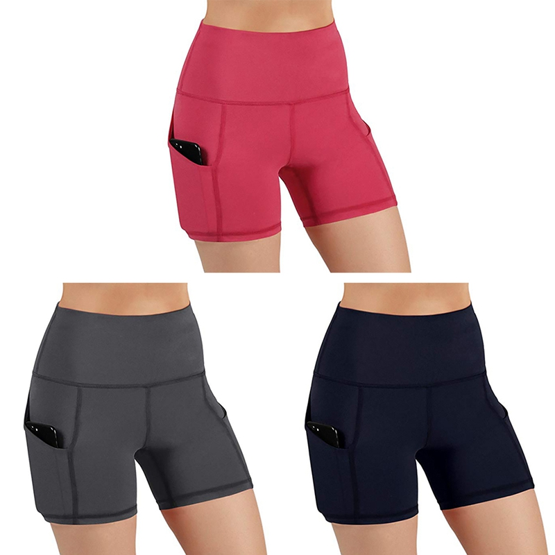 Hot Sale Yoga Shorts Women High Waist Butt Lifting Push Up Tight Sports Tights Short Trousers For Running