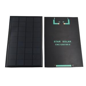 Image 5 - 9V 3W 330mA GÜNEŞ PANELI taşınabilir Mini Sunpower DIY modülü paneli sistemi için güneş lamba pili oyuncaklar telefon şarj cihazı güneş hücreleri