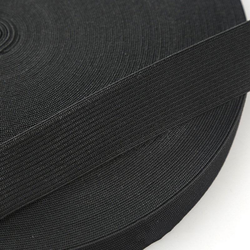 5 м/15/20/25/30/35/40/50/60 мм Эластичная лента аксессуары для пошива одежды нейлоновая эластичная резинка швейной черный, белый цвет - Цвет: black