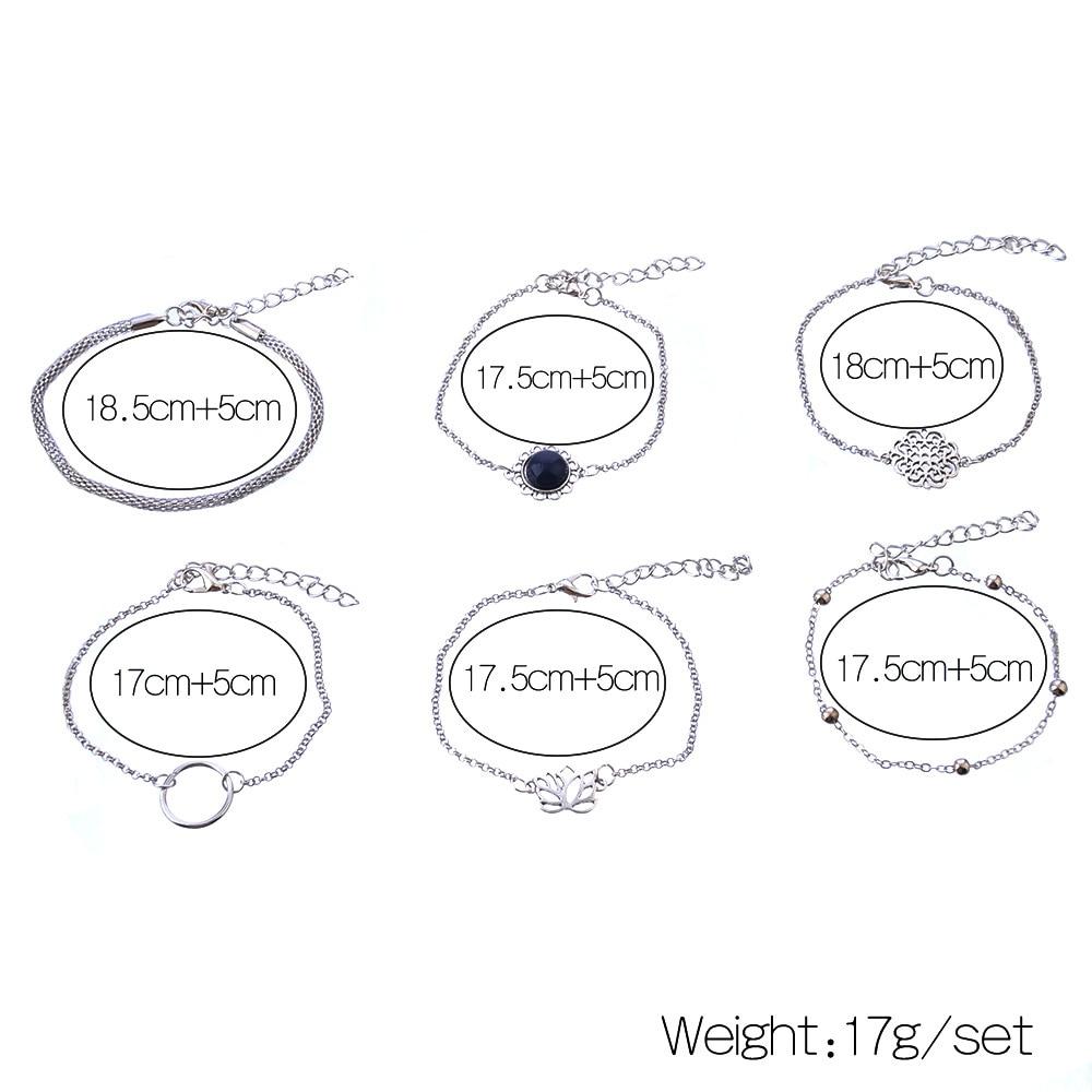 Women's Boho Style Bracelets 6 Pcs Set 2